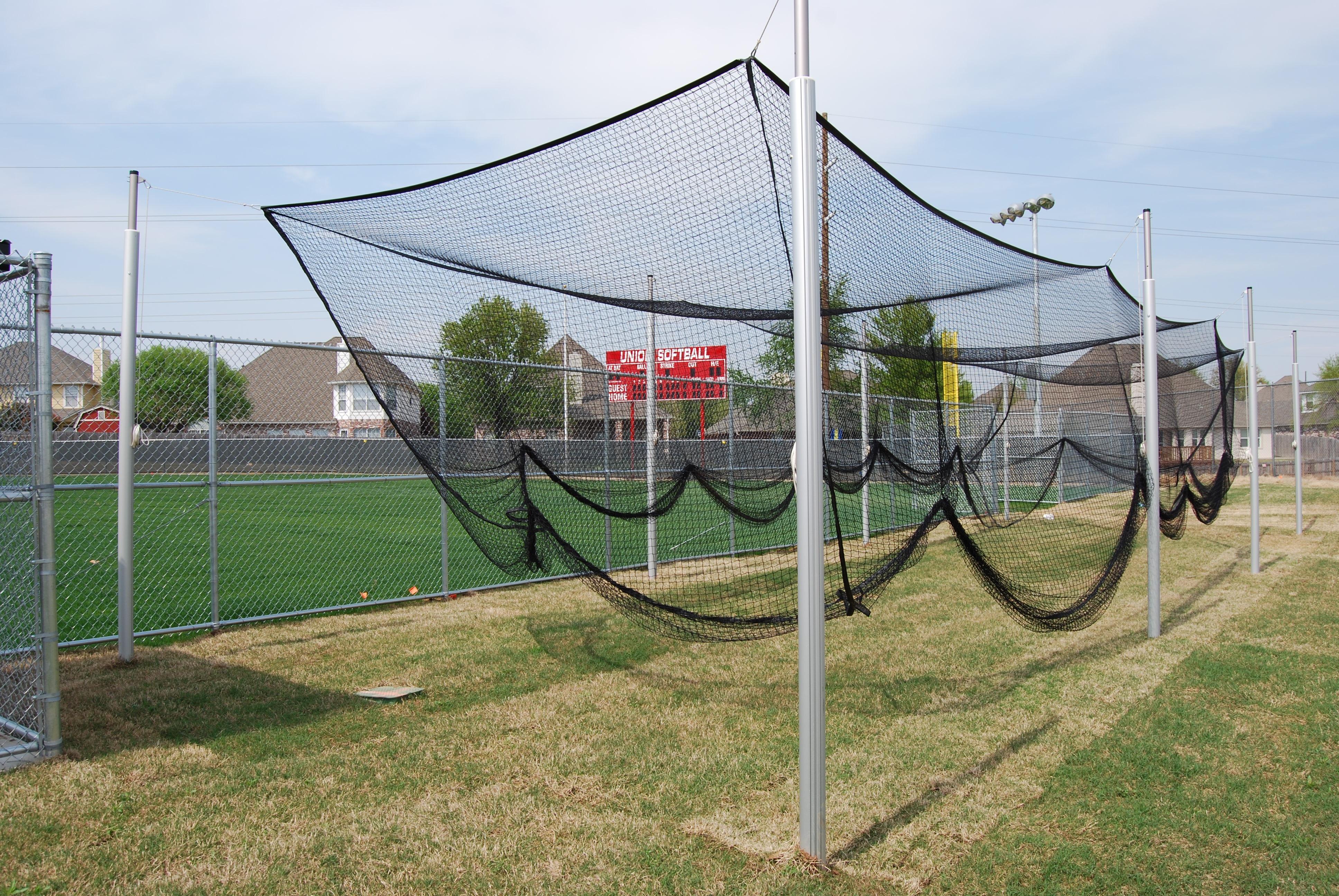 "Outdoor 3-1/2"" O.D. Aluminum Batting Cage, 55 ..."